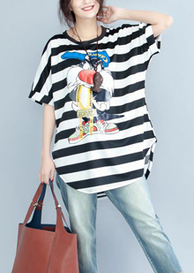 European with character  Big size T-shirt. new 10% sale~ 상큼발랄  강남파! 빅사이즈!(55-77 free)